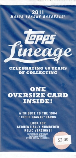 2011 Lineage Unopened Box Topper