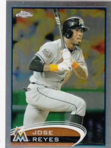 2012 Topps Chrome Jose Reyes