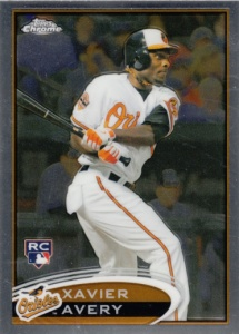 2012 Topps Chrome Xavier Avery