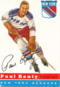 1954-55 Topps Hockey Paul Ronty