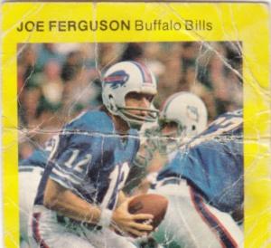 1975 McDonald's Quarter Back Joe Ferguson
