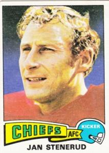 1975 Topps Football Jan Stenerud