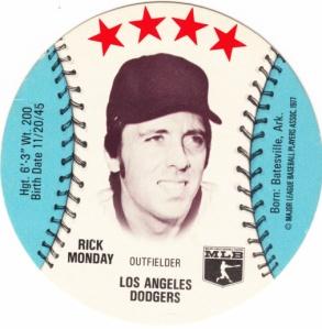 1976 MSA Disk Rick Monday