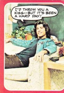 1976 Topps Welcome Back Kotter Been A Hard Day