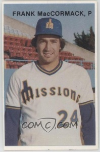 1978 Mr. Chef's Fish & Chix San Jose Missions Frank MacCormack from COMC