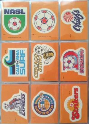 1979 Topps Soccer Stickers 1 - 9