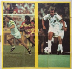 1979 Topps Soccer Stickers Rodney Marsh Dennis Tueart puzzle