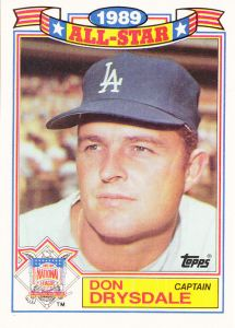 1990 Topps All-Star Glossy Don Drysdale