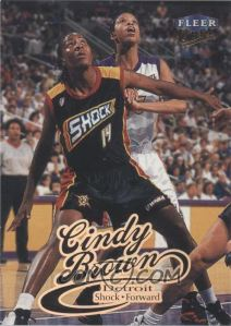 1999 Fleer Ultra WNBA Cindy Brown