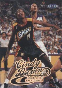 1999 Fleer Ultra WNBA Cindy Brown