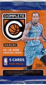 2015-16 Panini Complete Kevin Durant Wrapper