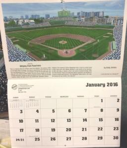 2016 Hallowed Grounds Calendar January Wrigley
