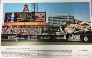 2016 Hallowed Grounds Calendar march Angels Stadium