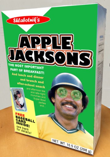 Apple Jacksons Cereal Box