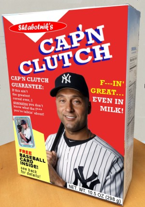 Cap'n Clutch Cereal Box