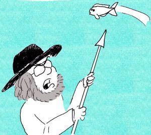 white koi cartoon