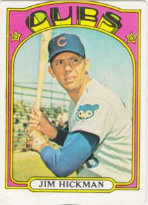 1972 Topps Jim Hickman