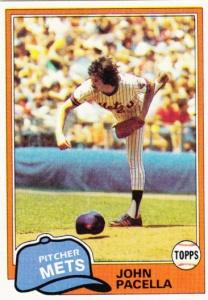 1981 Topps john Pacella
