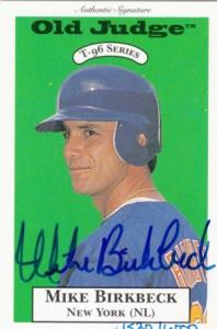 1996 Signature Rookies Old Judge Mike Birkbeck