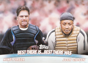 2001 Topps Combos Mike Piazza Josh Gibson