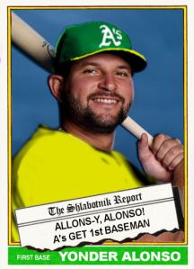 2015-16 TSR Hot Stove 76-T2b Allons-y Yonder Alonso