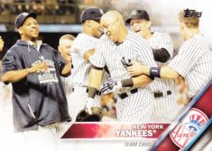 2016 Topps Yankees Team Card