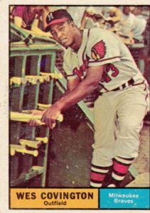 1961 Topps Wes Covington