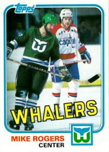 1981-82 Topps Hockey Mike Rogers