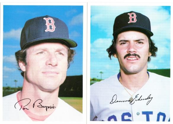 1981 Topps 5x7 Red Sox Burgmeier Eckersley