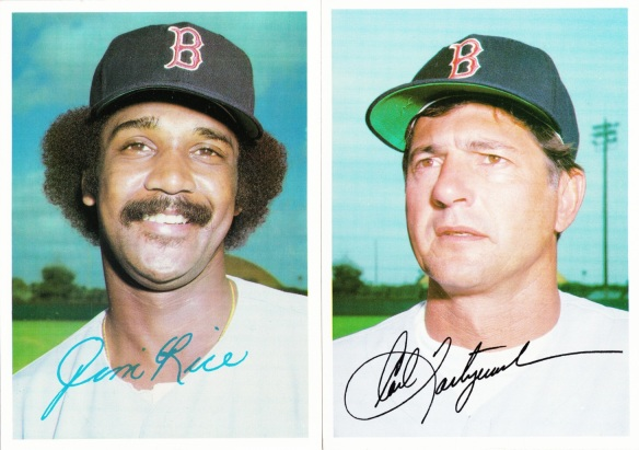 1981 Topps 5x7 Red Sox Rice Yastrzemski