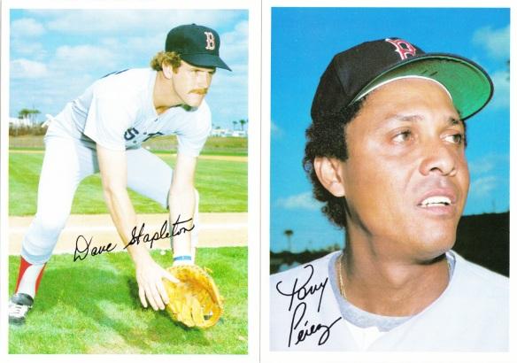1981 Topps 5x7 Red Sox Stapleton Perez