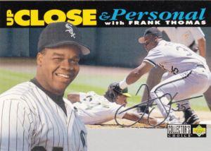 1994 Collectors Choice Up Close Frank Thomas