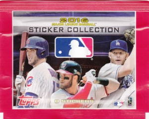 2016 Topps Album Stickers pack