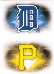 2016 Topps Album Stickers Tigers Pirates logos