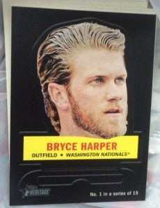 2016 Topps Heritage Stand Up Bryce Harper