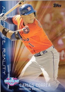 2016 Topps Opening Day Alternate Reality Carlos Correa