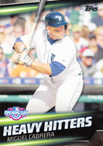 2016 Topps Opening Day Heavy Hitters Miguel Cabrera