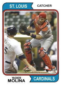 2016 TSRchives 74T-2 Yadier Molina