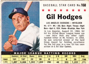1961 Post Gil Hodges