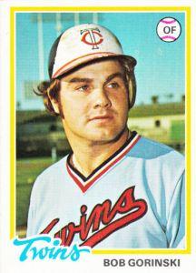1978 Topps Bob Gorinski