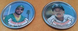 1987 Topps Coins Reggie Rickey