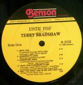 Terry Bradshaw - Until You - label