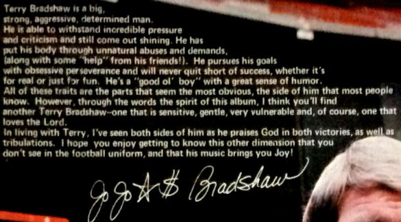Terry Bradshaw - Until You - Note