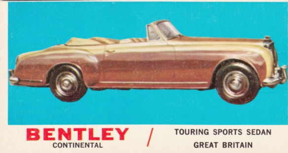 1961 Topps Sports Cars Bentley Continental