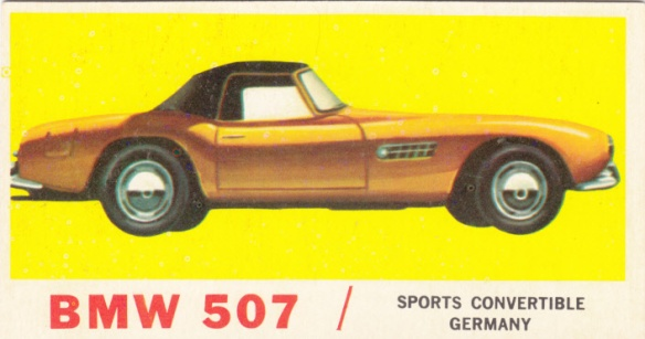 1961 Topps Sports Cars BMW 507