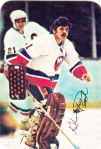 1977-78 Topps Hockey Glossy Insert Glenn Resch