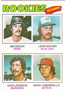 1977 Topps Rookie Pitchers Gideon et al