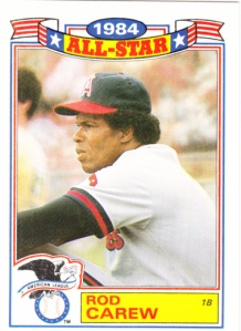 1985 Topps Rack Pack Glossy Rod Carew