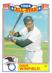 1985 Topps Rack Pack Glossy Dave Winfield