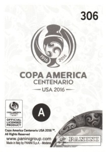 2016 Panini Copa America Centenario Stickers Sergio Romero back